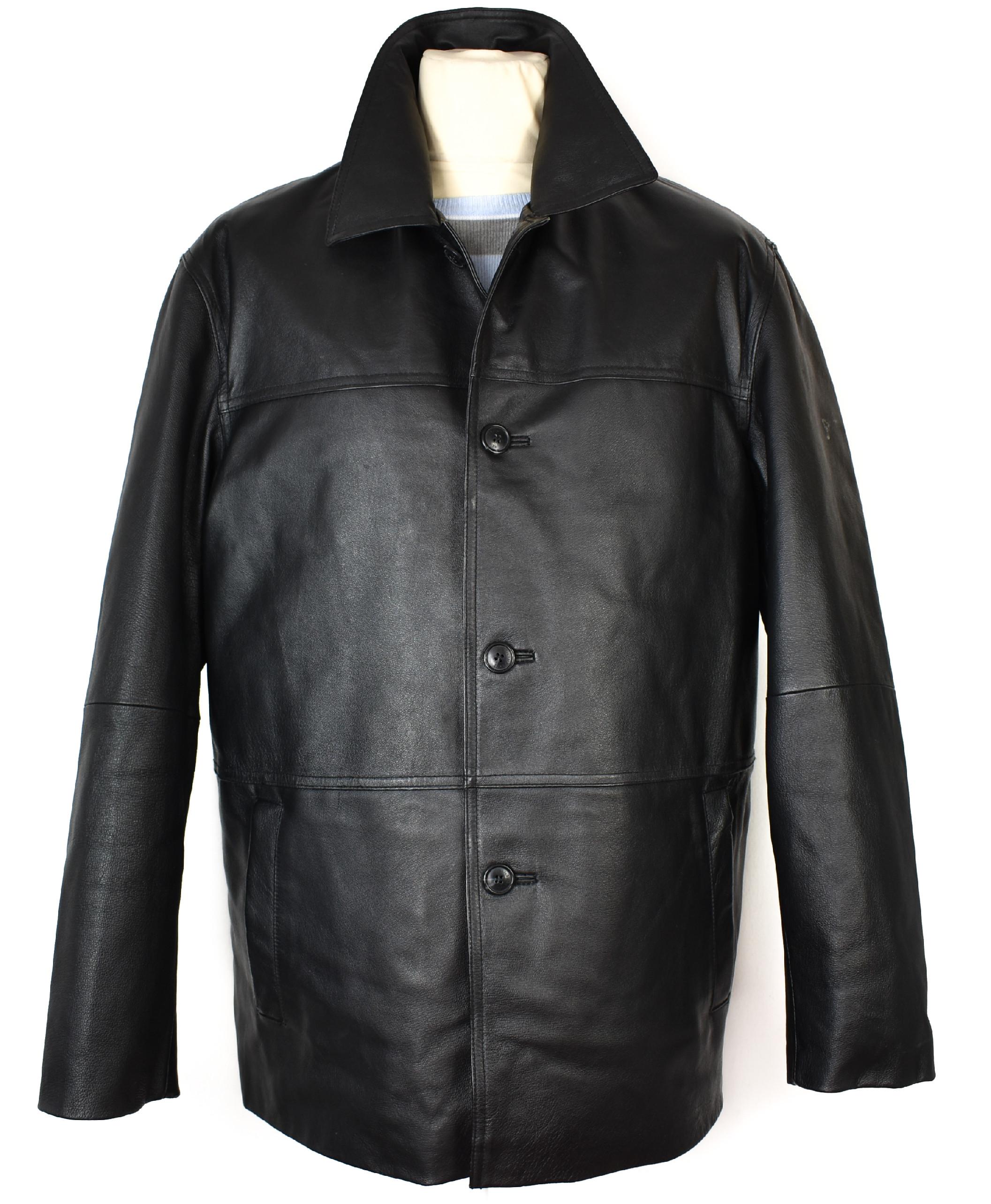 KOŽENÁ pánská měkká černá bunda s vložkou Different XL