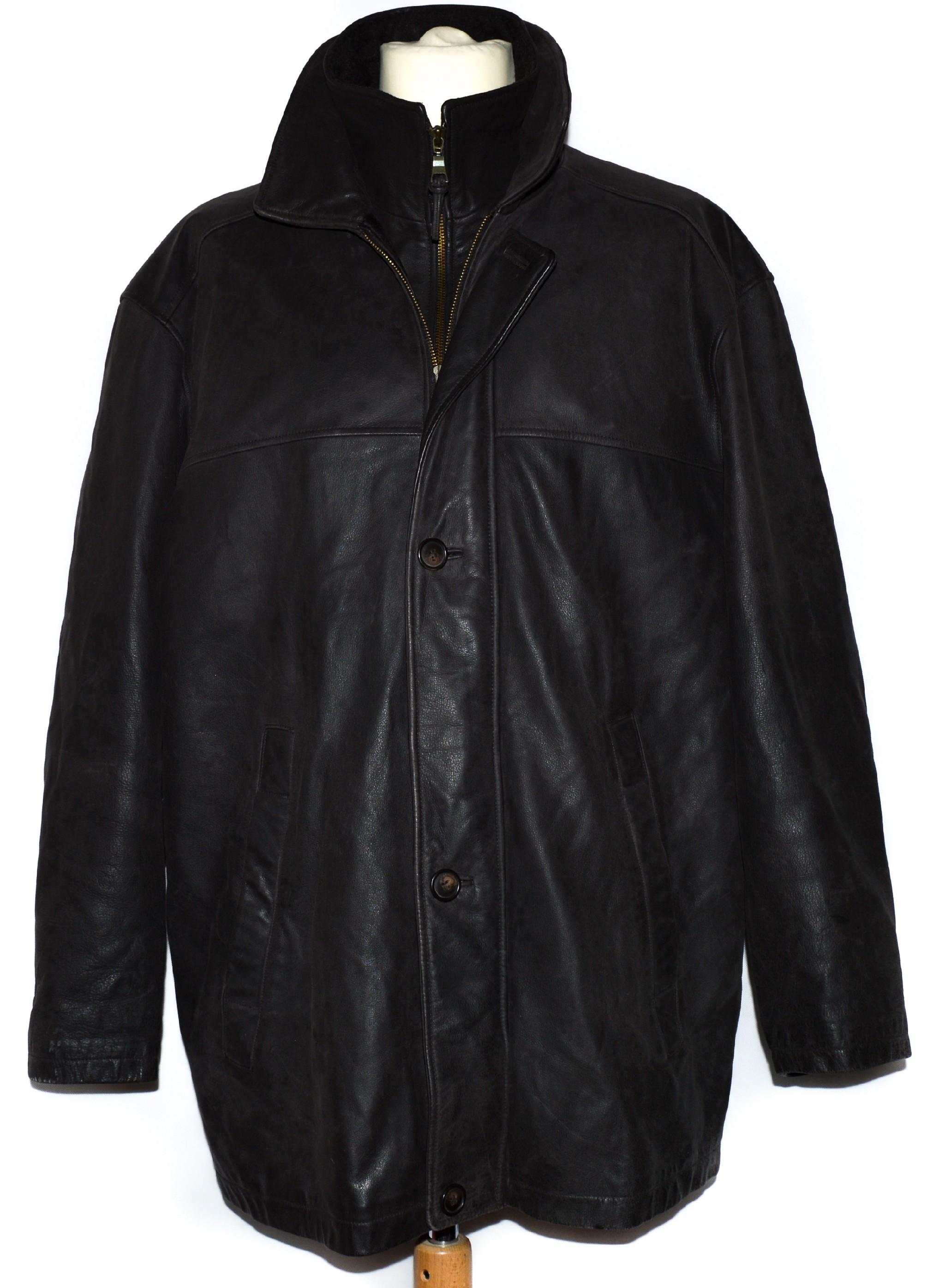 KOŽENÁ pánská hnědá měkká bunda Donar XL
