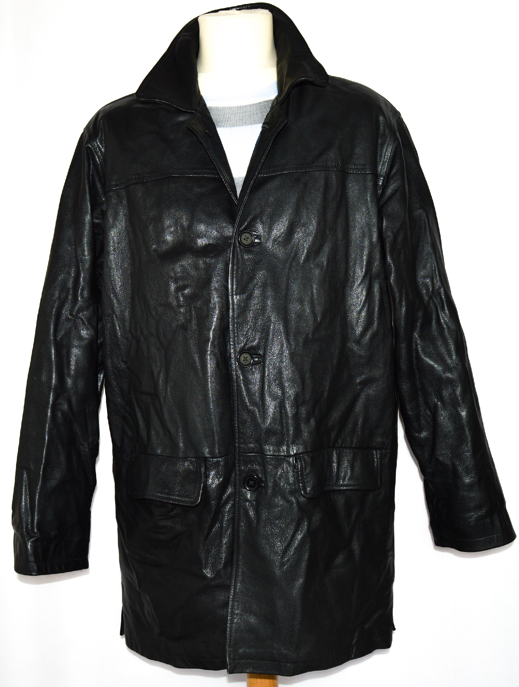 KOŽENÁ pánská černá bunda Fine Line Leather XL