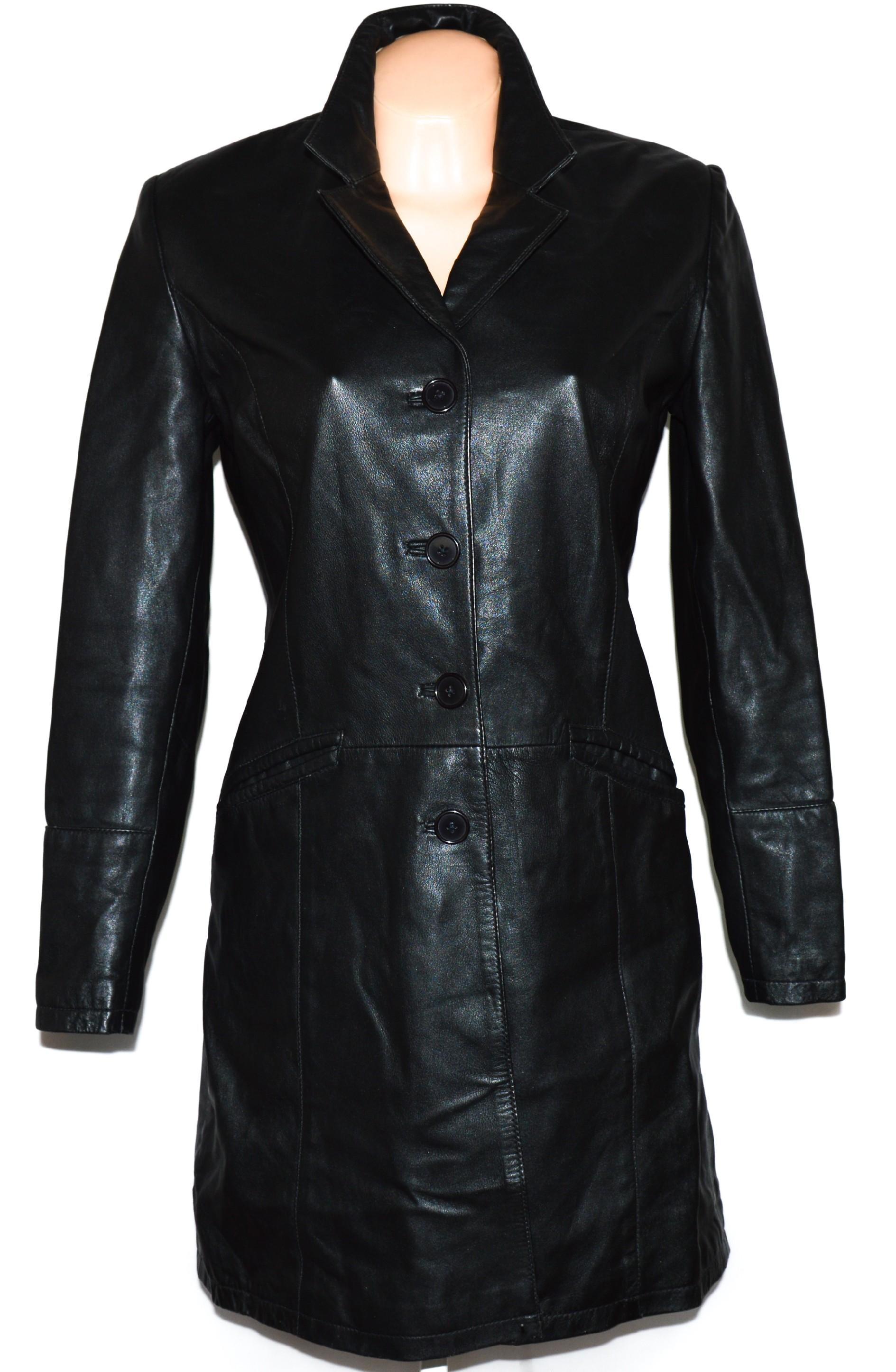 KOŽENÝ dámský černý měkký kabát Hollies L