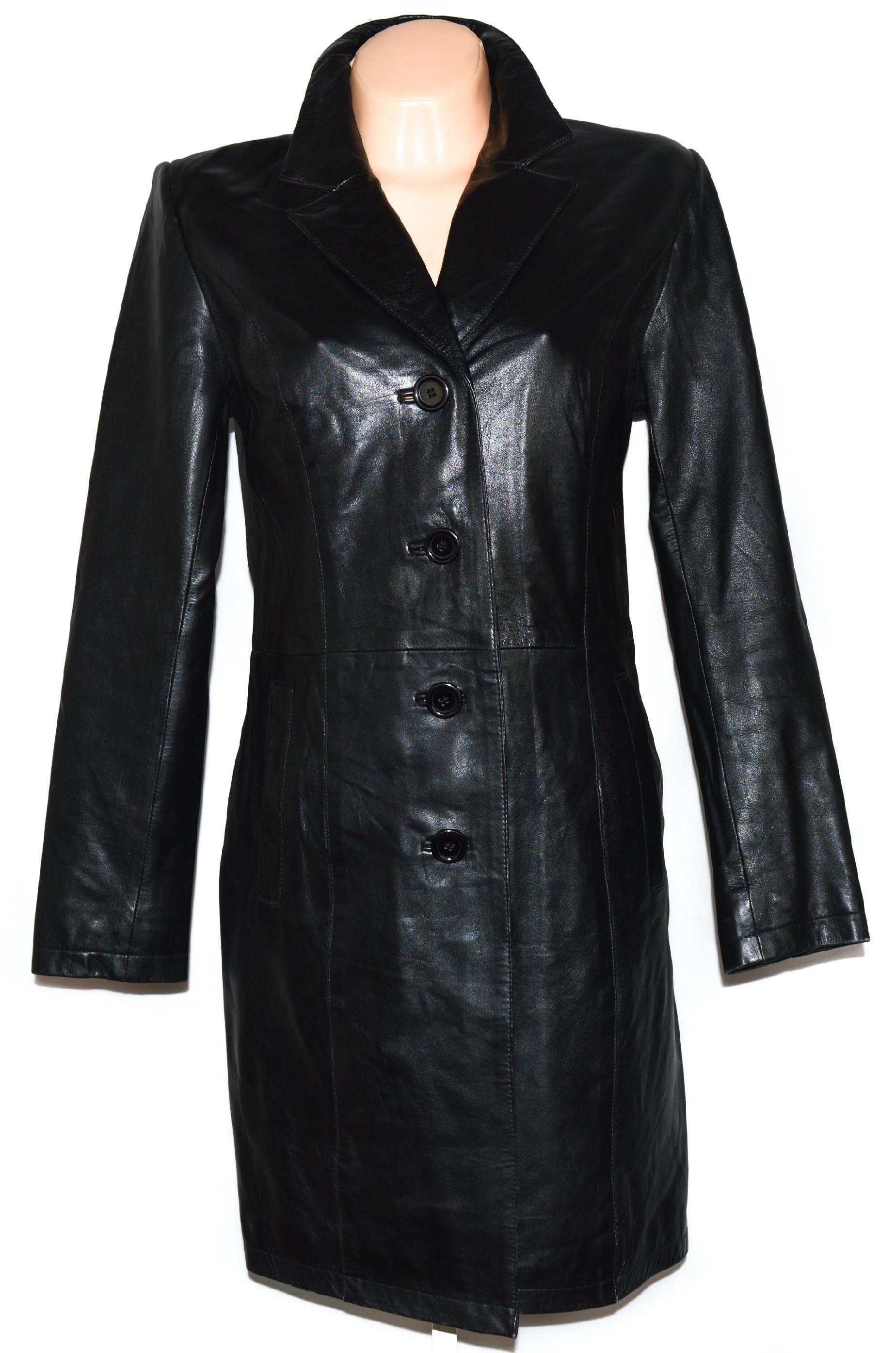 KOŽENÝ dámský černý měkký kabát Brixton L