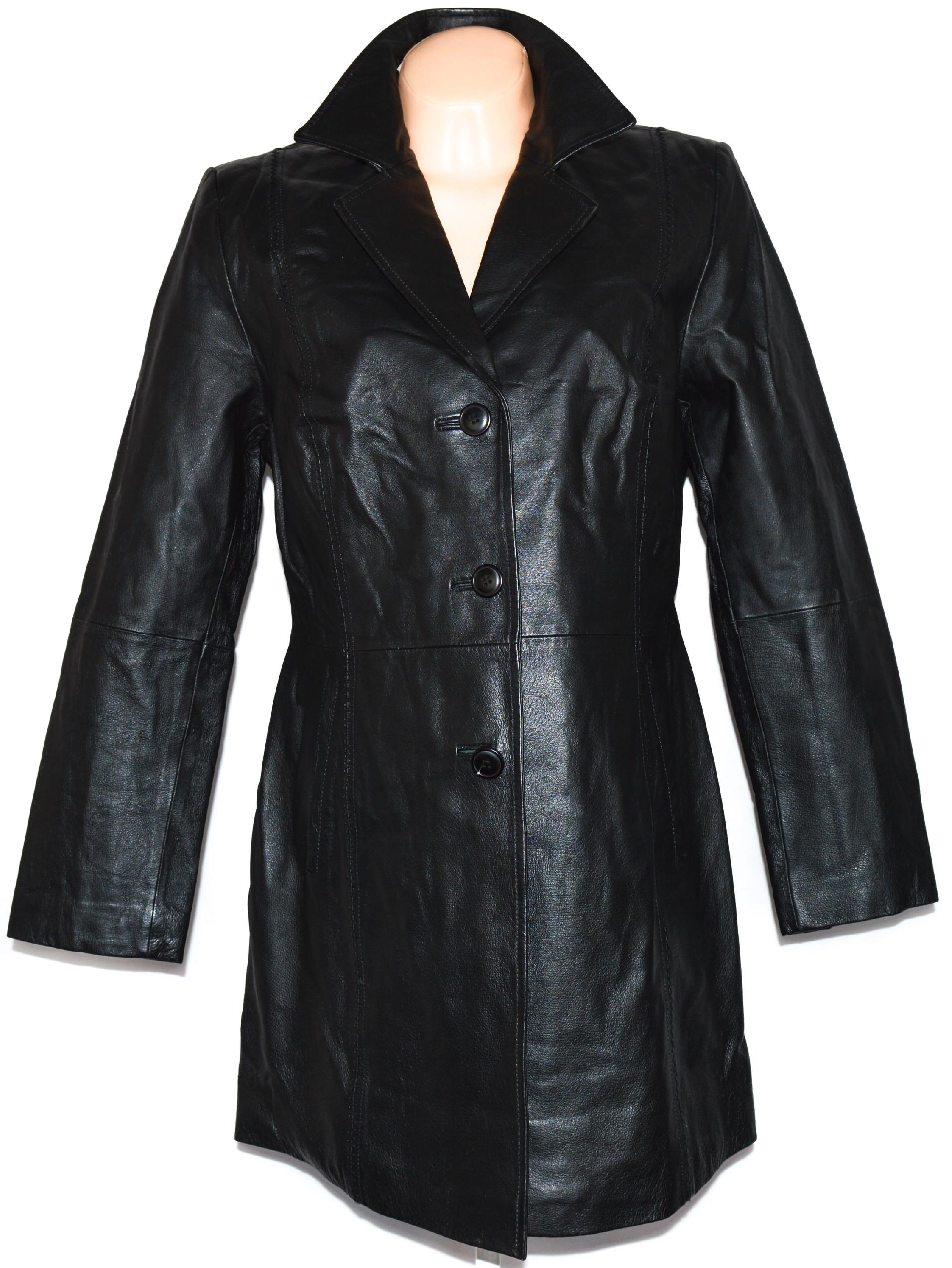 KOŽENÝ dámský černý kabát Laura Scott XL