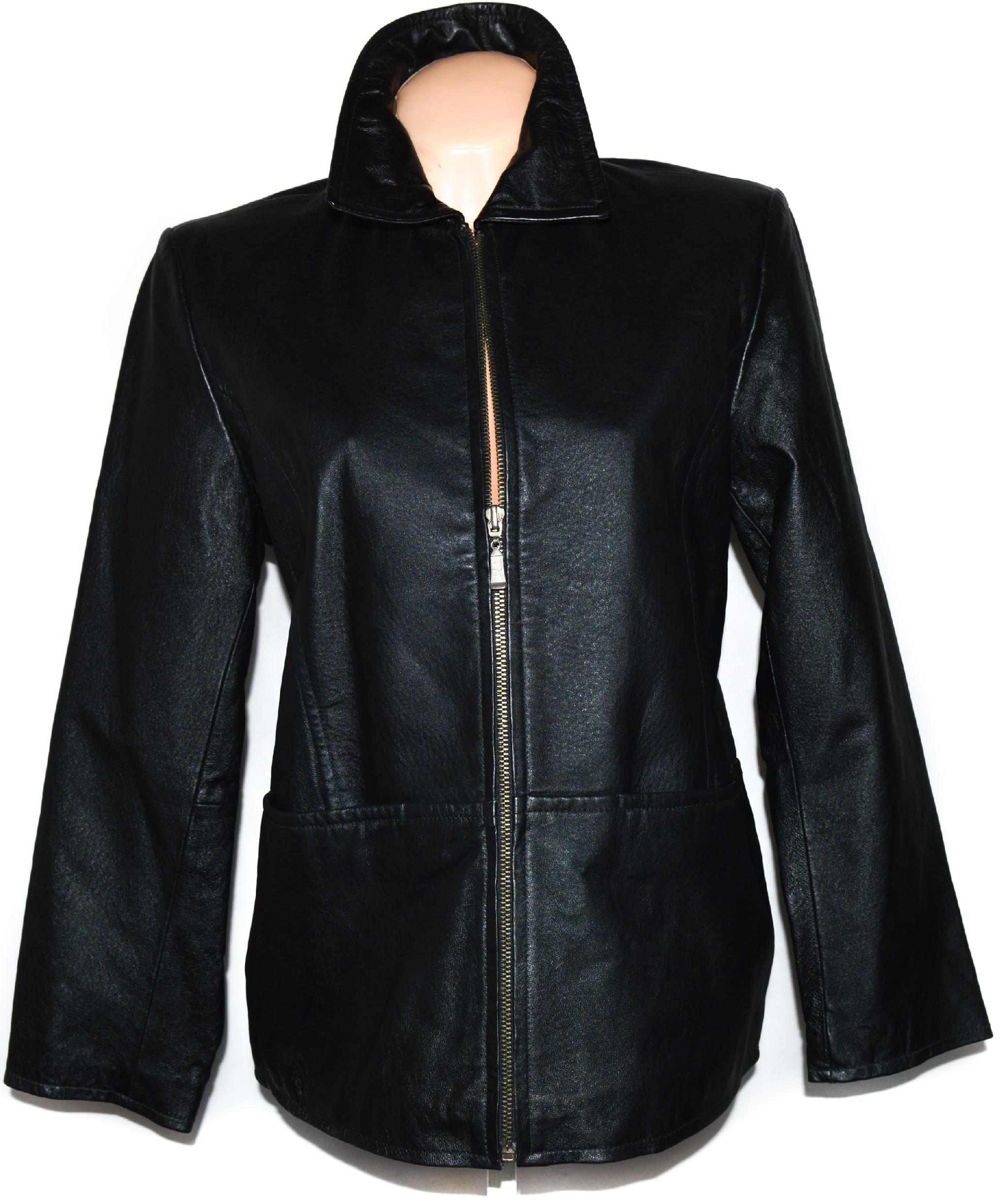 KOŽENÁ dámská černá bunda na zip XL
