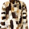 Pravý dámský hebký krémovo-hnědý kožich KARA 3DSCI5010 4