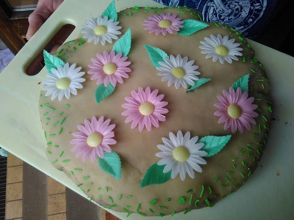 Citrusový dortík s marcipánem á la Rozkvetlá zahrádka
