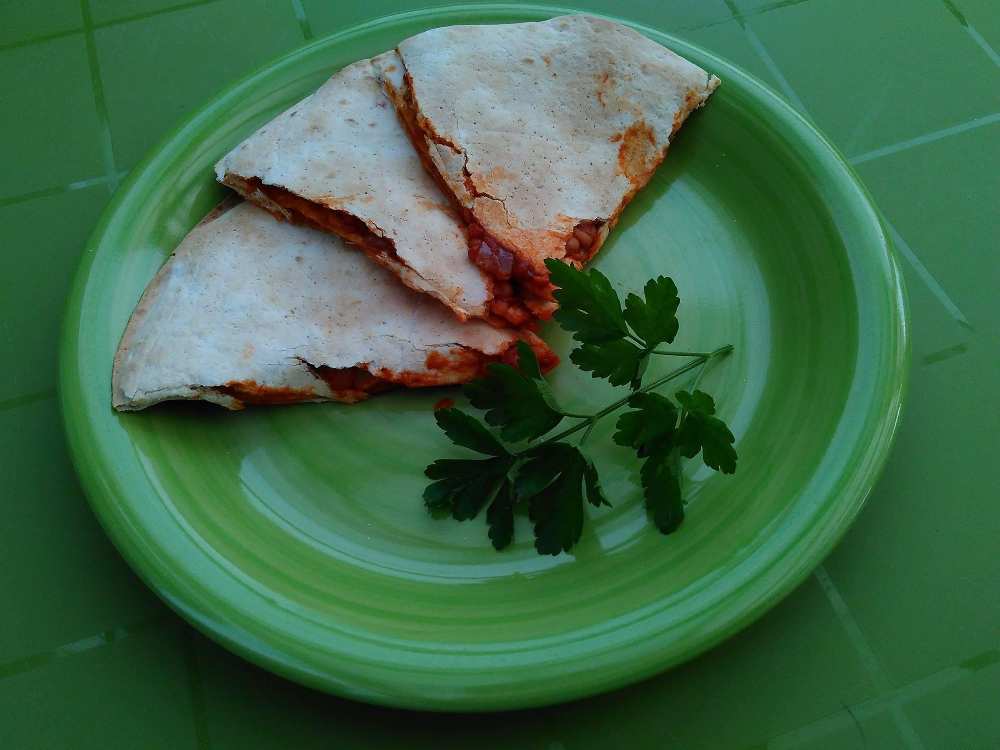 Dvojitá mexická quesadilla