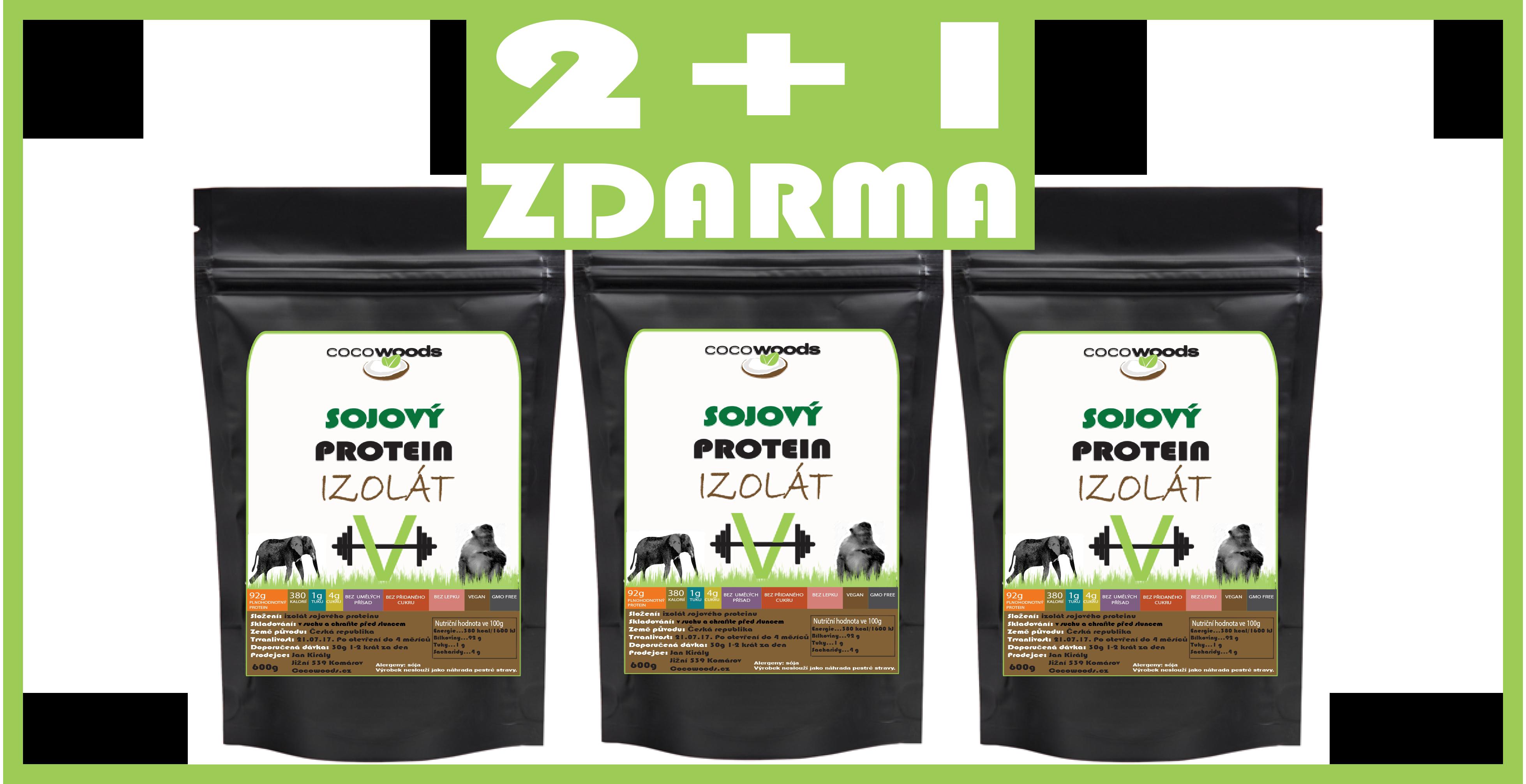 Sójový protein 2+1 Zdarma