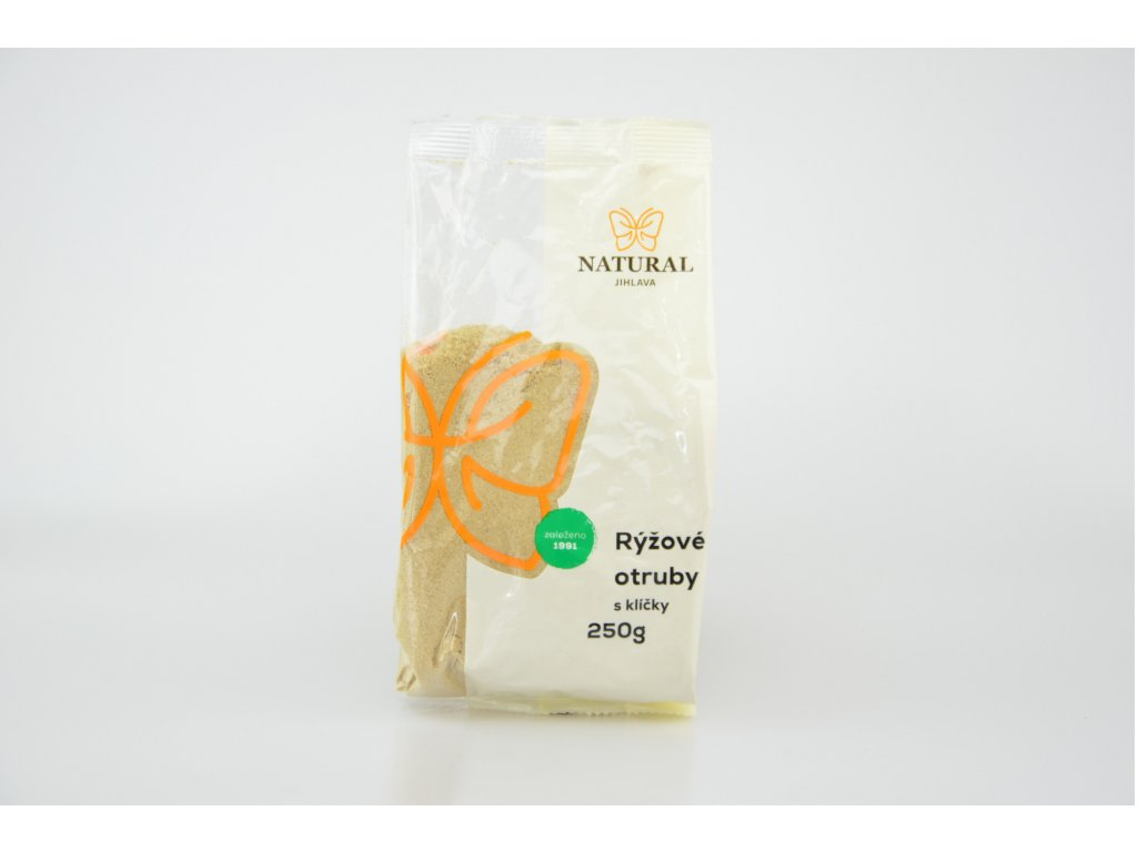 Otruby rýžové s klíčky - Natural 250g