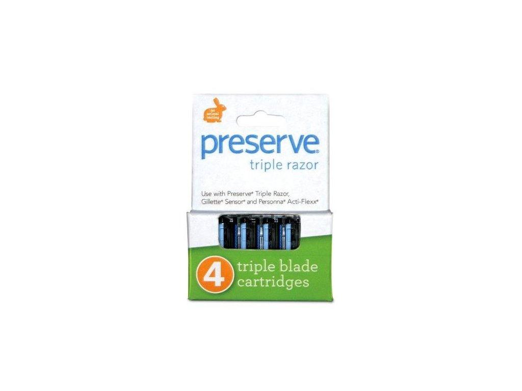 Preserve Náhradní břity Triple (4 ks)