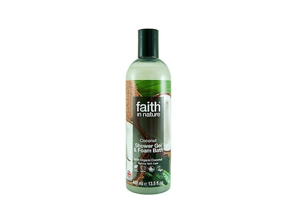 Faith in Nature 2v1 BIO kokosový sprchový gel a pěna do koupele 400 ml
