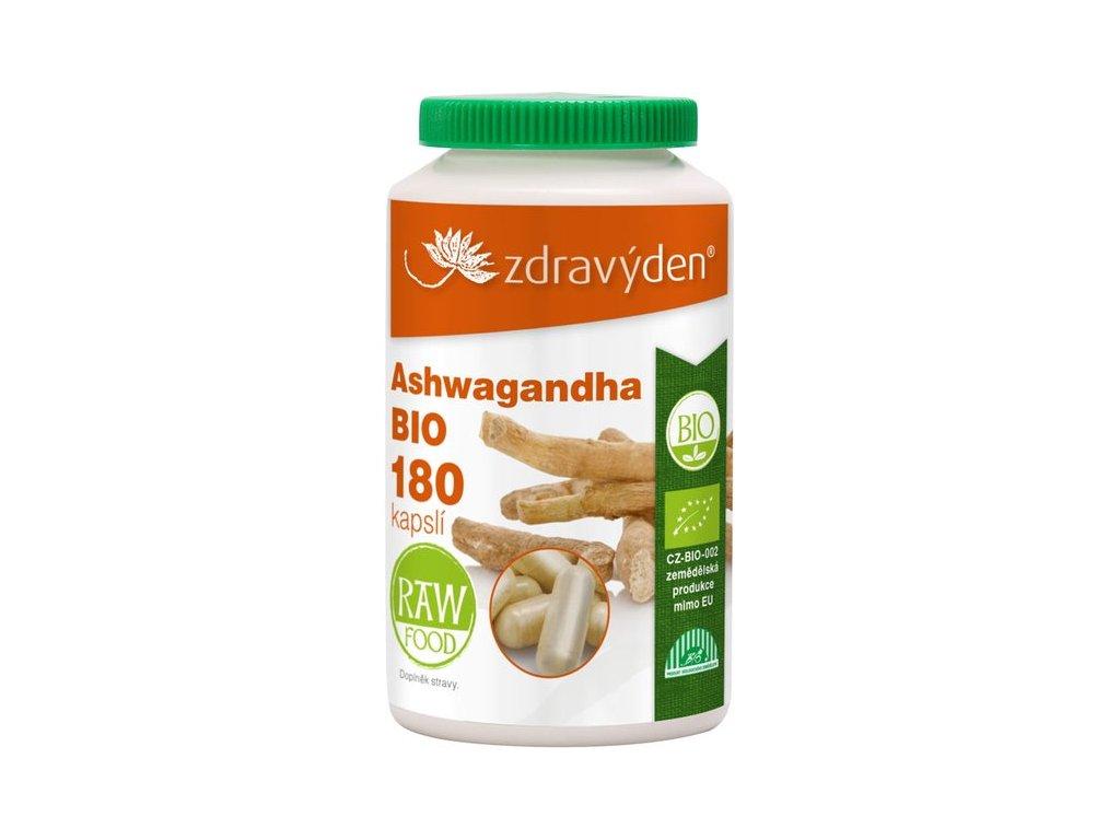 Ashwagandha BIO 180 kapslí