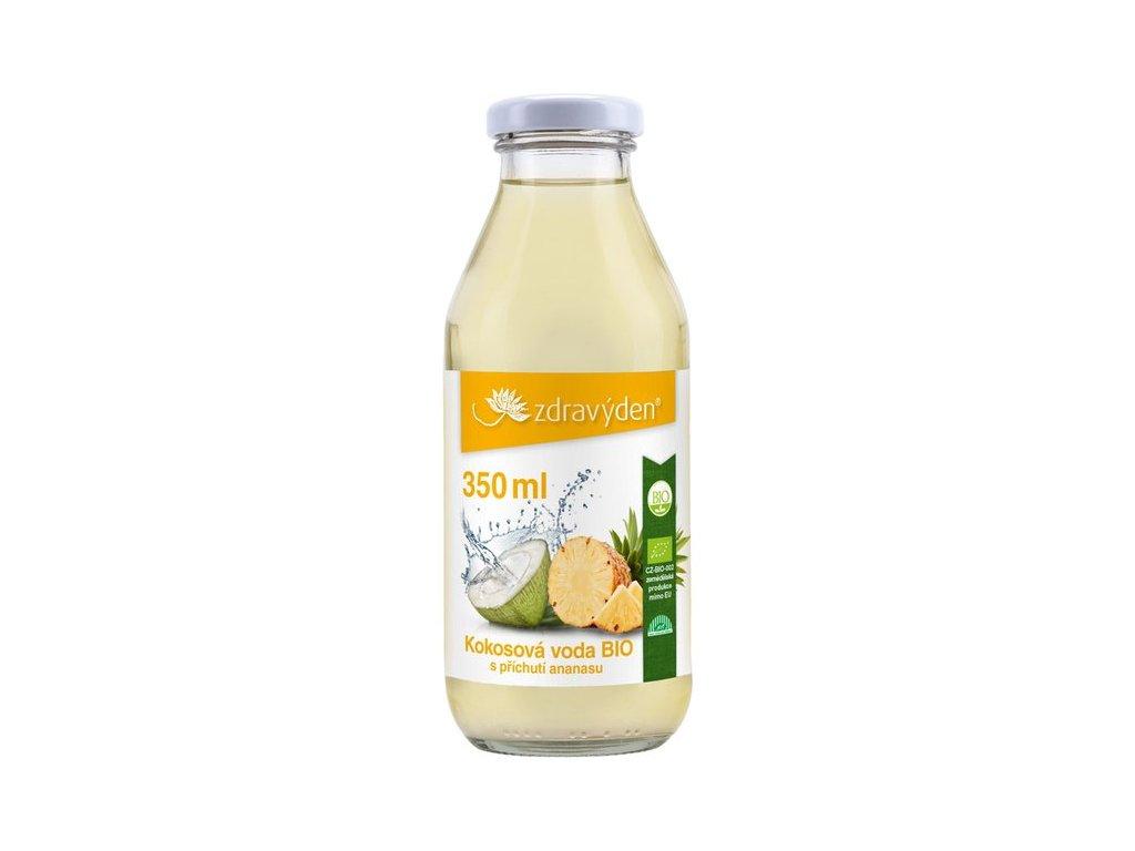 Kokosová voda BIO s příchutí ananasu 350ml