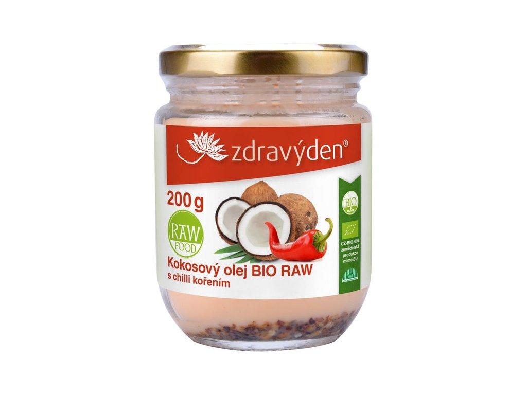 Kokosový olej BIO RAW 200ml s chilli