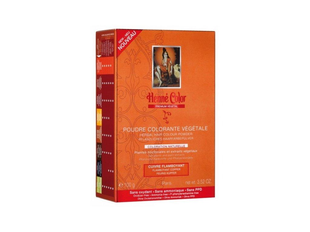 Henné Color - Barva na vlasy Nápadná Měděná Premium Végétal 100 g
