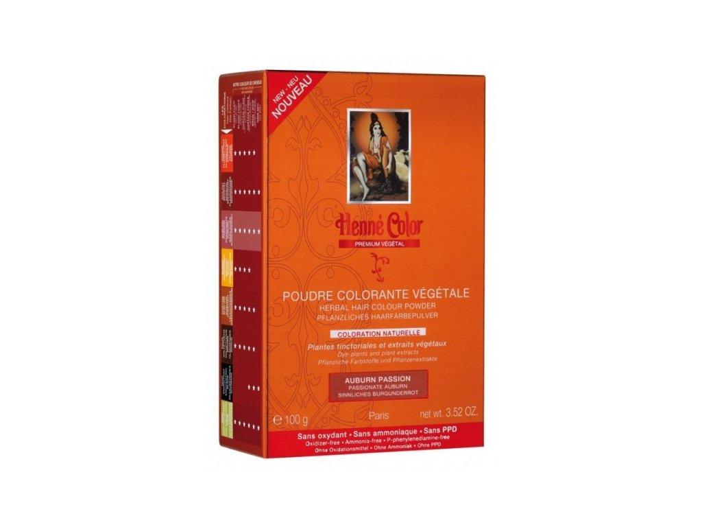 Henné Color - Barva na vlasy Vášnivá Bordó Premium Végétal 100 g