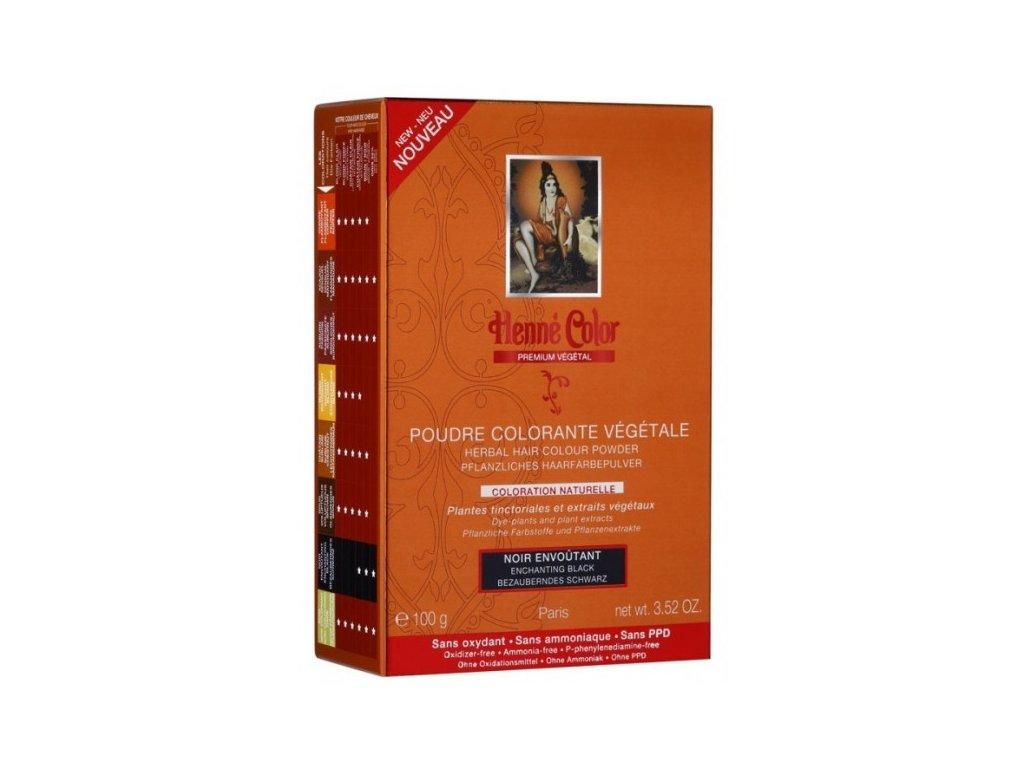 Henné Color - Barva na vlasy Okouzlující Černá Premium Végétal 100 g