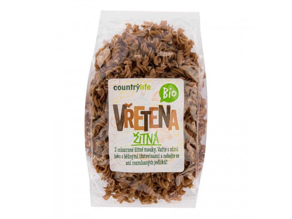 Těstoviny vřetena žitná 400g BIO COUNTRYLIFE