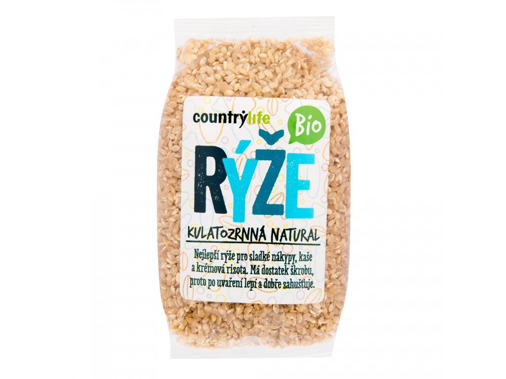 Rýže kulatozrnná natural 500g BIO COUNTRYLIFE