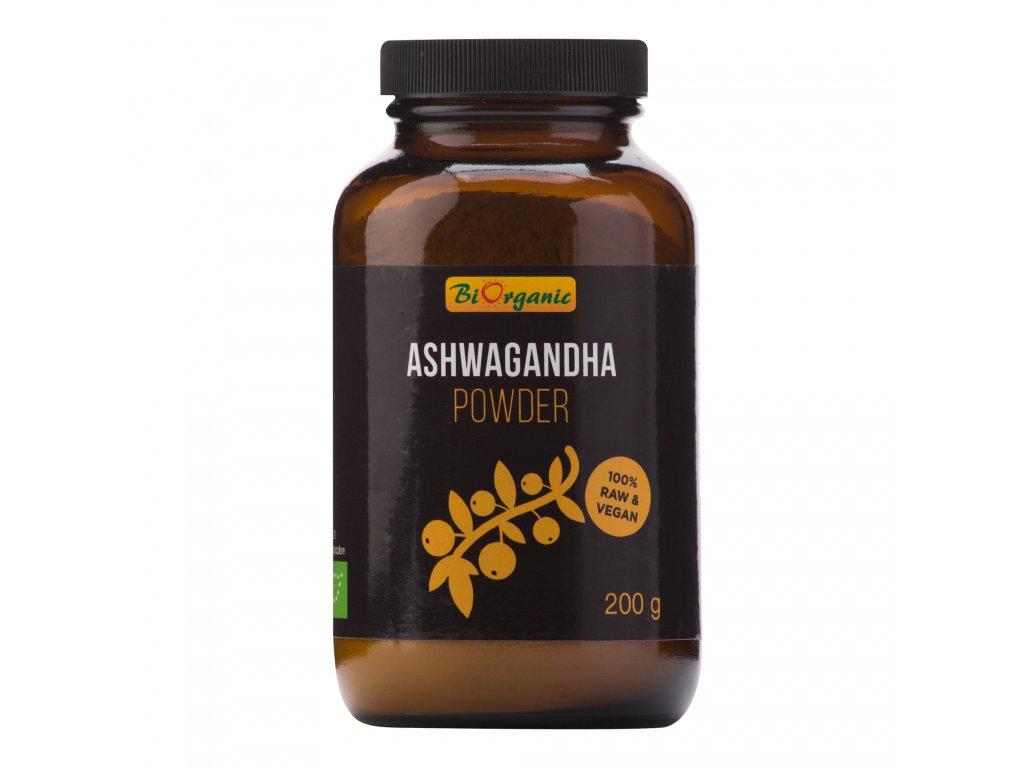Ashwagandha prášek 200 g BIO BIORGANIC