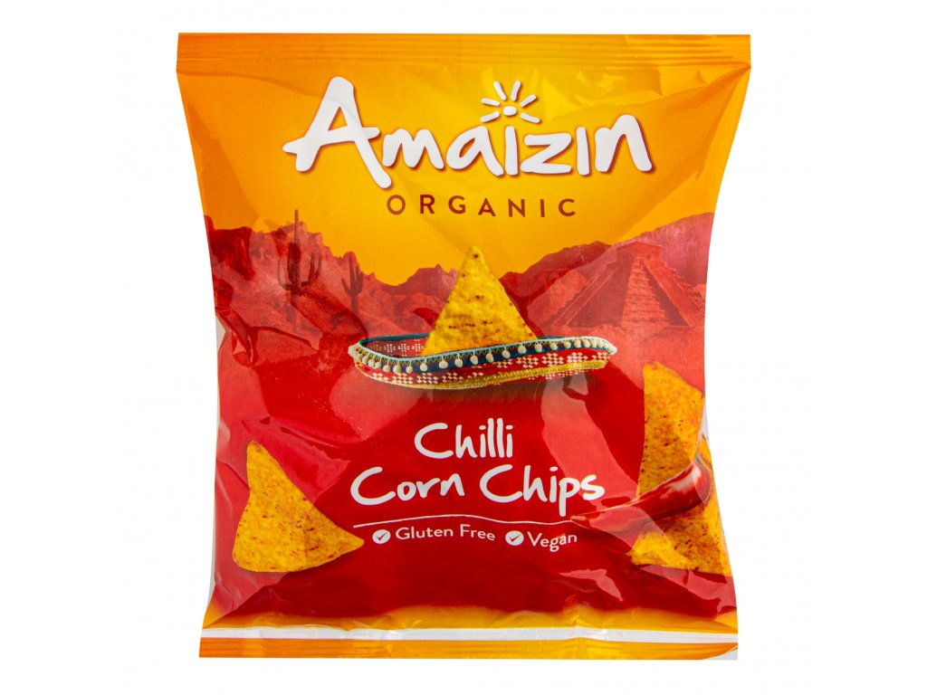 Chipsy kukuřičné chilli 75 g BIO AMAIZIN