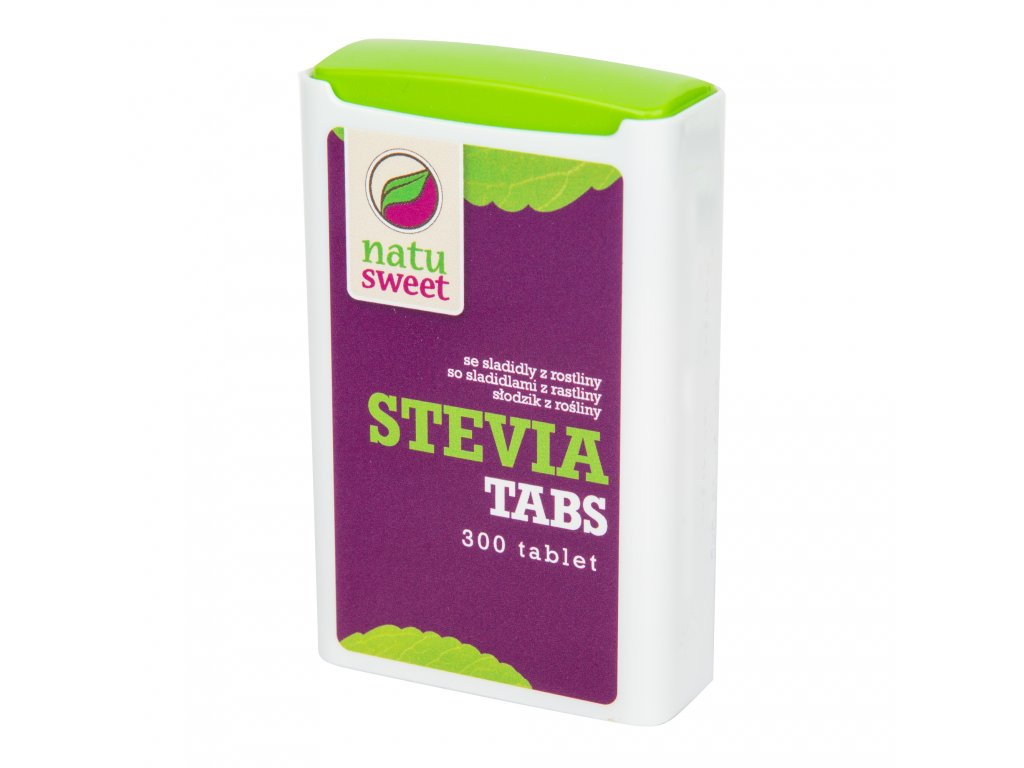 Sladidlo ze stévie 300 tablet v dávkovači 18g NATUSWEET
