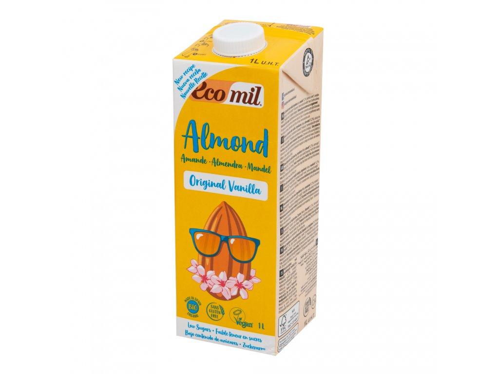 Nápoj ze sladkých mandlí vanilka 1l BIO ECOMIL