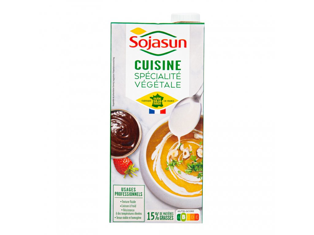 Sójová alternativa smetany 15% tuku 1l SOJASUN