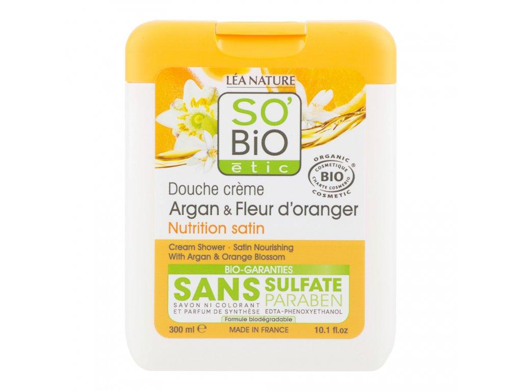 Gel sprchový argan a pomerančové květy 300 ml BIO SO'BiO étic