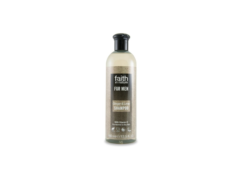 Faith in Nature - For Men BIO Šampon pro muže Zázvor a Limeta 250 ml