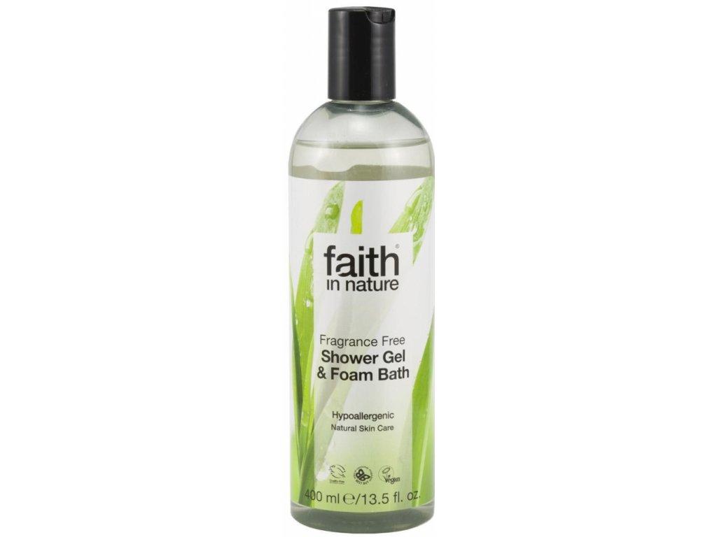 Faith in Nature 2v1 sprchový gel a pěna do koupele bez parfemace HA 400 ml