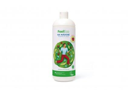 Prostředek na mytí nádobí - malina - Feel Eco 1000ml