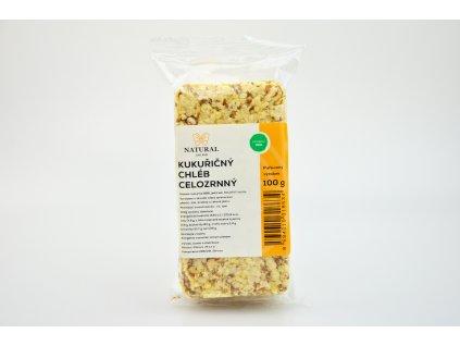 Kukuřičný chléb celozrnný - Natural 100g