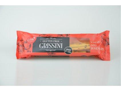 Grissini rajče a rozmarýn - trvanlivé tyčinky bez lepku 85g