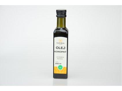 Olej konopný za studena lisovaný - Natural 250ml