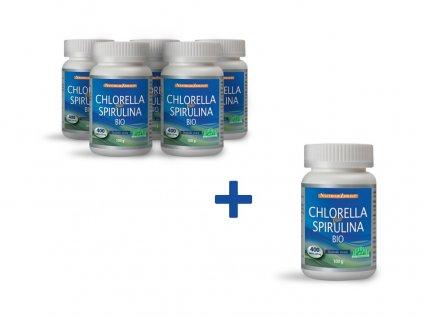 Bio Chlorella plus Spirulina 100g AKCE 5+1