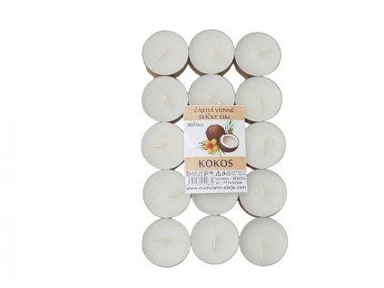 Čajové svíčky RENTEX vůně kokos 15ks