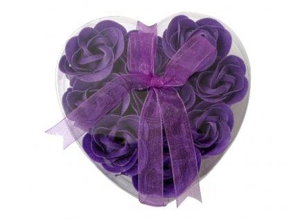 Mýdlové květy 9ks R132 fialová - AKCE