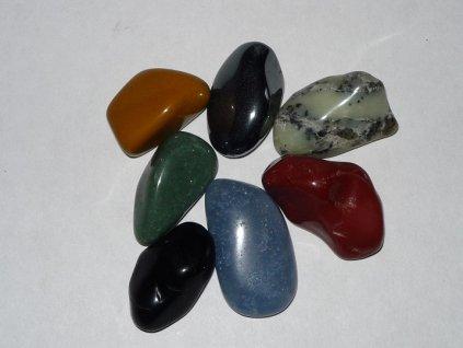 Tromlované kameny mix druhů sada 7ks 20-30mm