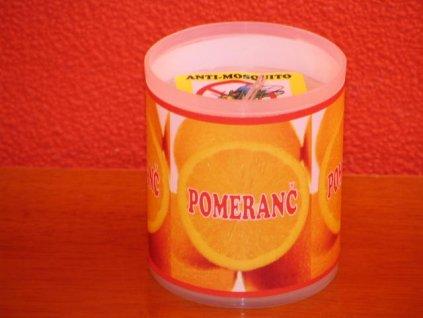 Zahradní svíčka s repelentní vůní - pomeranč