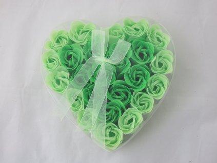 Mýdlové květy 24ks R135 zeleno/zelená - AKCE