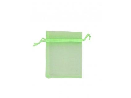 Organzový sáček zelený 70x90mm č.9 AKCE