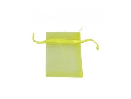 Organzový sáček žlutý 70x90mm č.12 AKCE