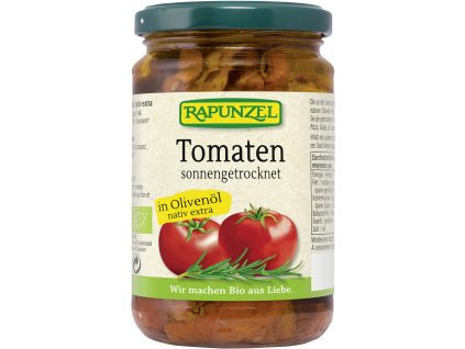 Bio sušená rajčata v EP olivovém oleji RAPUNZEL 275 g
