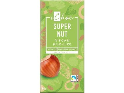 Bio vegan čokoláda s oříšky iChoc 80 g