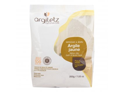 Jíl žlutý ultra ventilovaný maska & koupel 200 g ARGILETZ