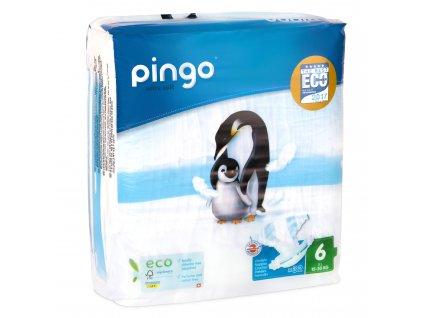 Jednorázové ekologické pleny pro děti č. 6: 15-30 kg 32 ks Pingo