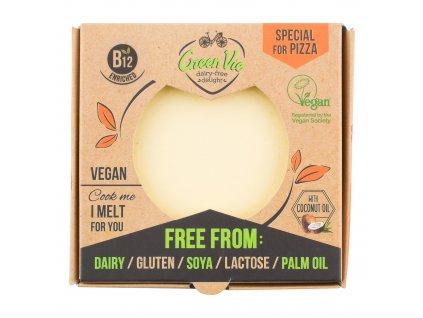 Veganská alternativa sýru pizza blok 250g GREENVIE