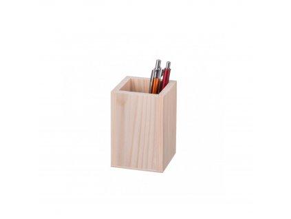 Dřevěný čtvercový box na tužky