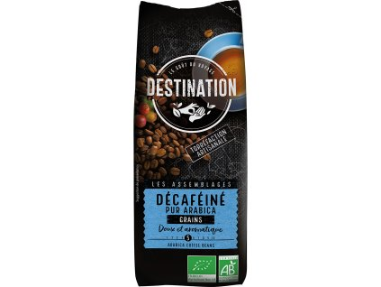Bio káva zrnková 100% arabika bez kofeinu Destination 250 g
