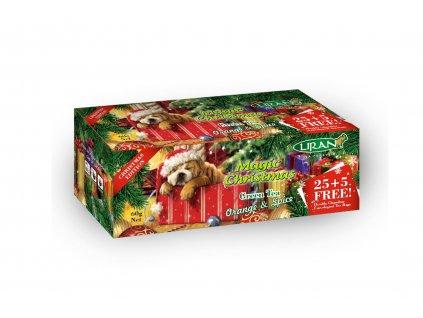 Čaj zelený Magic Christmas s příchutí pomeranče a skořice - Liran 30x2g